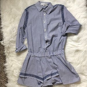 Thakoon addition Striped  Short Romper